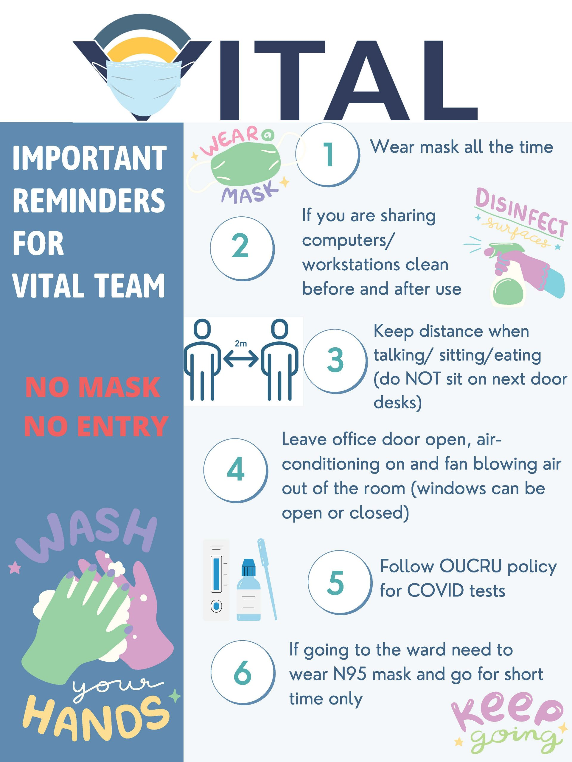 Important reminders for VITAL team